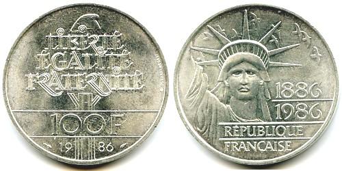 100 Francs Liberte 1986 Eurocollection