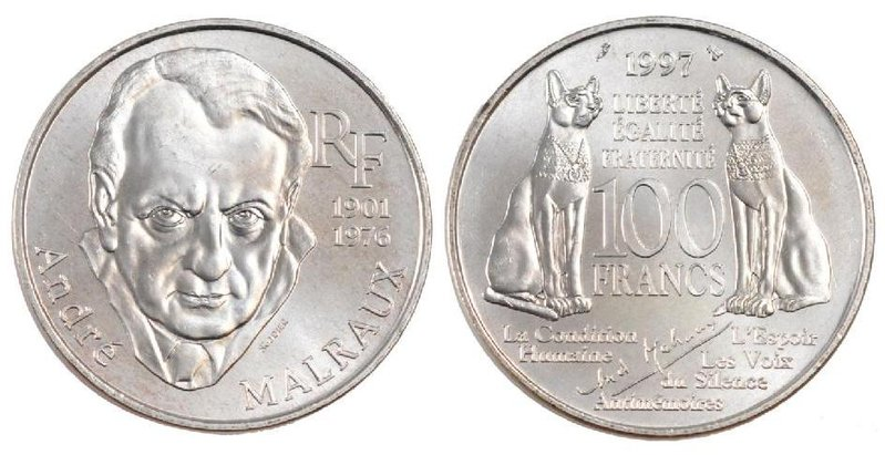 100 Francs Andre Malraux 1997 Eurocollection