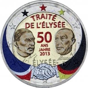 2 Euro Allemagne 2013 Traite De L Elysee Couleur 2 Eurocollection