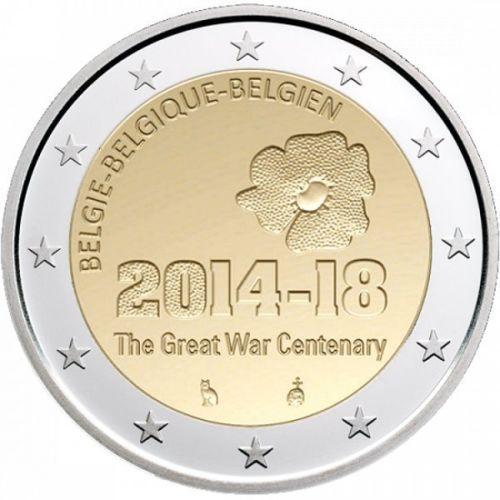 2 Euro Belgique 2014 100 Ans Guerre Mondiale Eurocollection