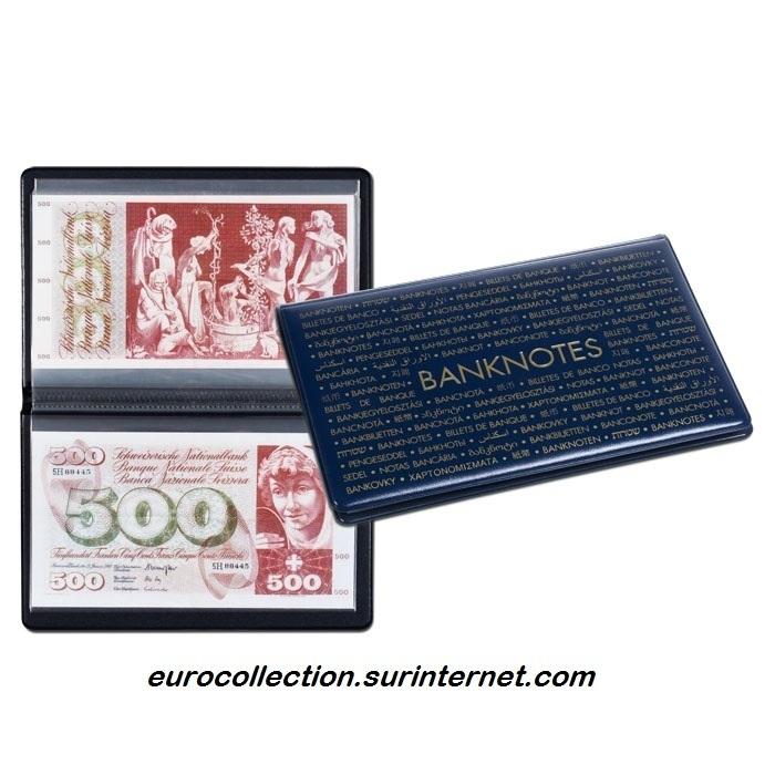 album de poche pour billets de banque 210x125 eurocollection. Black Bedroom Furniture Sets. Home Design Ideas