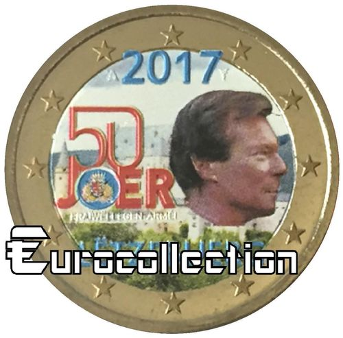 2 euro Luxembourg 2017 Service Militaire couleur 4