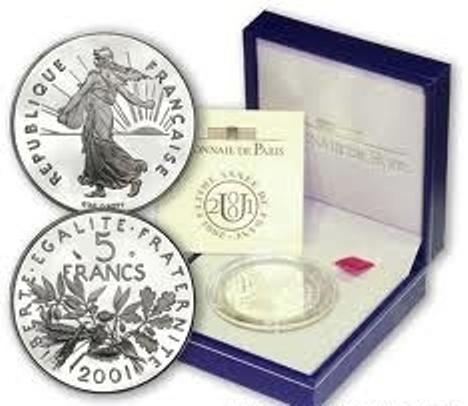 5 francs Semeuse 2001 BU