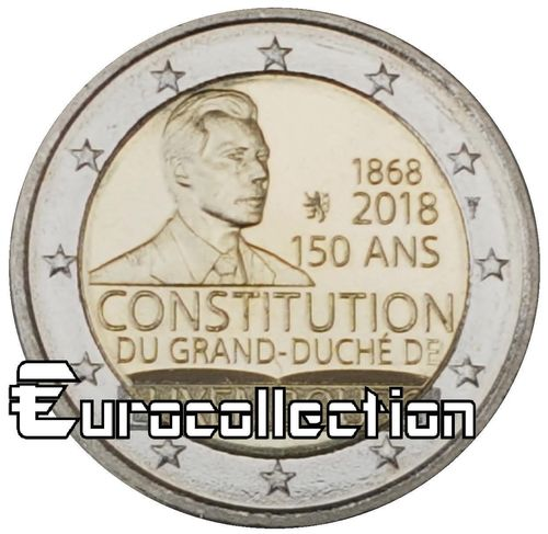 2 euro Luxembourg 2018 Constitution