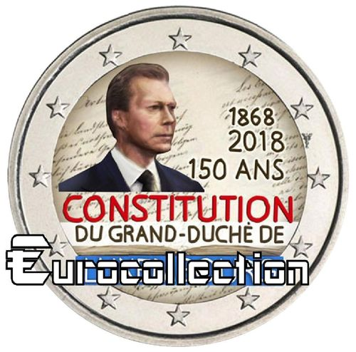 2 euro Luxembourg 2018 Constitution couleur 2