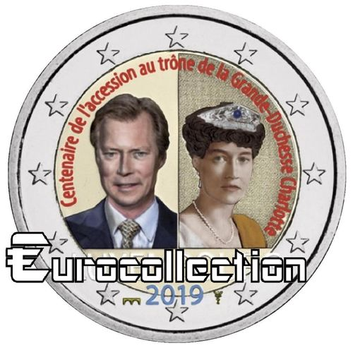 2 euro Luxembourg 2019 Duchesse Charlotte couleur 1