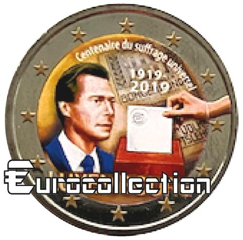 2 euro Luxembourg 2019 Suffrage universel couleur 5