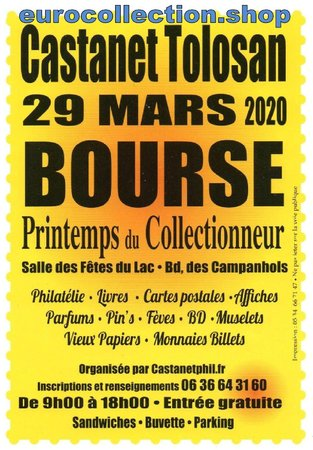 Castanet Tolosan Bourse Multicollections 29 mars 2020\\n\\n04/02/2020 08:21