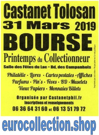 Castanet Tolosan Bourse Multicollections 31 mars 2019\\n\\n19/03/2019 16:49